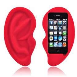 Red Ear Apple iPhone Soft Gel Skin Case
