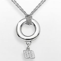 Dale Earnhardt Jr. Sterling Silver Halo Pendant with 88 Charm