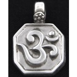 Octagonal Ohm Sterling Silver Pendant