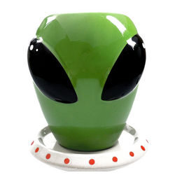 Alien Mug and Saucer Set
