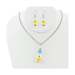 Easter Chick Jewelry Set