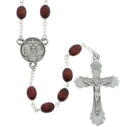 Deluxe Brown Wood Rosary
