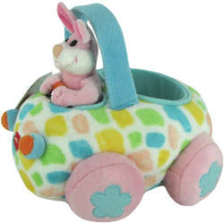 Happy Easter Plush Bunny Buggy Toy
