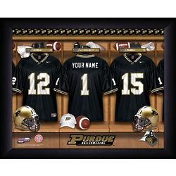 Personalized Purdue Boilermakers Football Locker Room Print