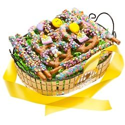 Happy Birthday Gourmet Pretzel Twists Gift Basket