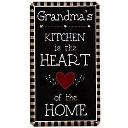 Personalized Heart of the Home Kitchen Sign