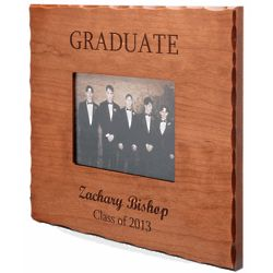 Personalized Graduate Cherry Wood Picture Frame