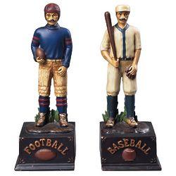 Football and Baseball Bookend Set