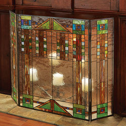 Prairie Style Fireplace Screen