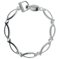 Silver-Finished Ichthys Bracelet