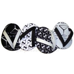 Black and White Martini Flip Flop Coasters