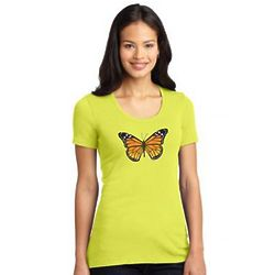 Ladies Environmental Monarch Wear Stretch Scoop Tee
