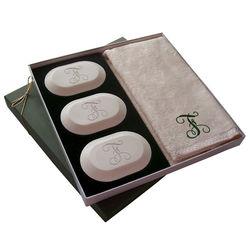Original Luxury Personalized Single Initial Soap Gift Set