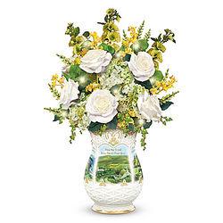 Edmund Sullivan Blessings of Ireland Floral Centerpiece
