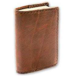 Custom Fitted Leather Book Cover