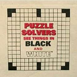"""Puzzle Solvers See Things in Black and White"" Crossword Tote"