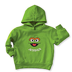 Sesame Street Personalized Oscar the Grouch Hoodie