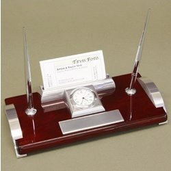 Personalized Executive Desk Set with Clock