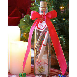 Romantic Christmas Message in Bottle