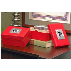 Personalized Red Photo Box