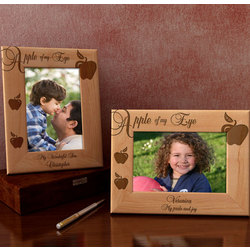 Personalized Apple of My Eye Wooden Picture Frame