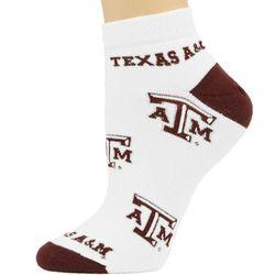 Texas A&M Aggies Ladies White All Over Team Logo Socks