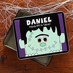 Frankenstein Fun Personalized Tin