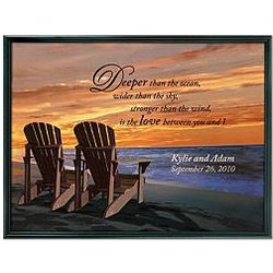 Personalized Framed Lounge Canvas