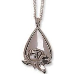 Rose Tear Drop Memorial Locket