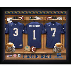 Notre Dame Personalized College Football Locker Room Print