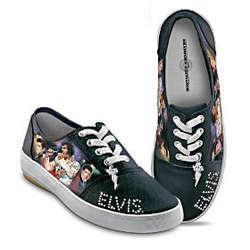 Elvis Presley Signature Canvas Sneakers