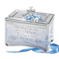 Personalized Treasured Memory Mirrored Music Box