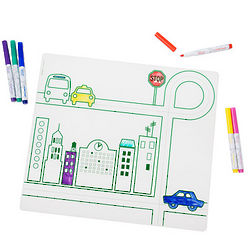 City Transportation Placemat Coloring Set