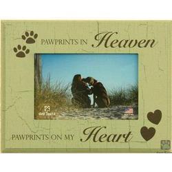Pawprints in Heaven Pet Sympathy Frame