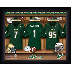 Personalized South Florida Bulls Football Locker Room Print