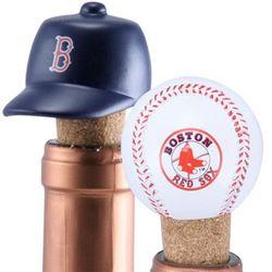 Boston Red Sox Wine Bottle Cork Set