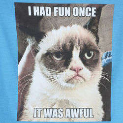 Junior's Grumpy Cat T-Shirt