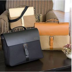 Personalized City Style Leather Briefcase