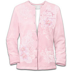 The Beauty of Hope: Breast Cancer Support Women's Cardigan