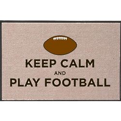 Keep Calm and Play Football Doormat