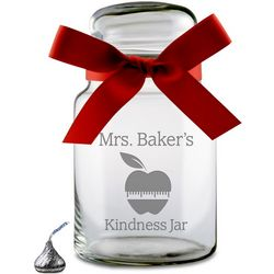 Teacher's Personalized Glass Candy Jar
