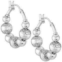 Santa Fe Native Pearl Hoop Earrings
