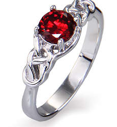 Close to the Heart Sterling Silver Celtic Knot Birthstone Ring