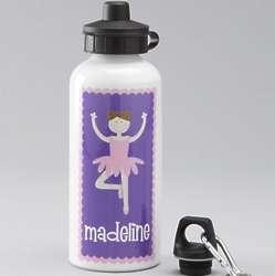 Purple Ballerina Custom Water Bottle