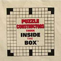 Puzzle Constructors Think Inside the Box Crossword Tote Bag