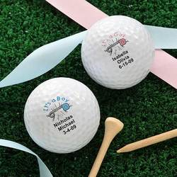 Personalized New Baby Golf Balls