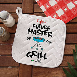 Personalized Future Master of the Grill Potholder for Kids