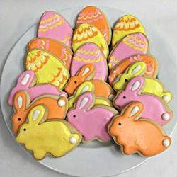 Easter Eggs Homemade Sugar Cookie Gift Tin