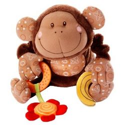 Infant Musical Cuddle Monkey