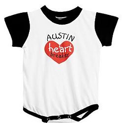 Personalized Valentine Heart Breaker Kid's Romper